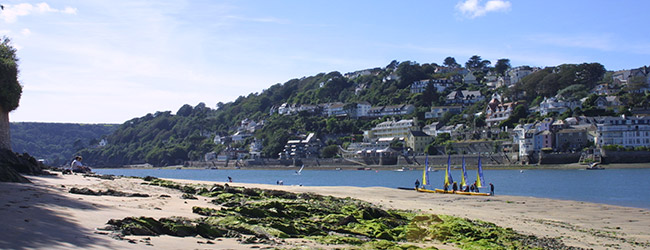 Salcombe provides great shopping, watersports and boat hire.