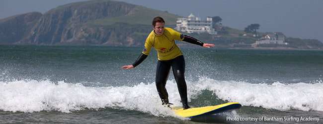 Surfing Lessons with Bantham Surfing Academy