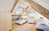 The Attic – with beds in twin arrangement